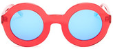 Wildfox Couture Women's Twiggy Round Acetate Frame Sunglasses