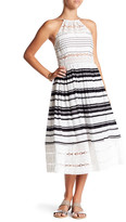 Tracy Reese Striped Silk Midi Dress