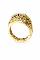 House Of Harlow Etched Ring in Yellow Gold