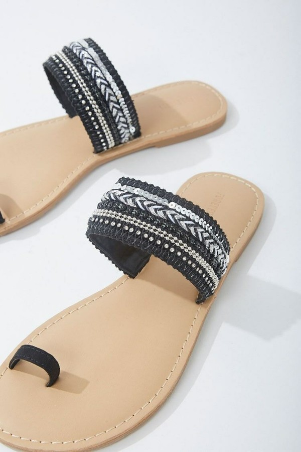 Thumbnail for your product : Forever 21 Embellished Toe-Loop Sandals