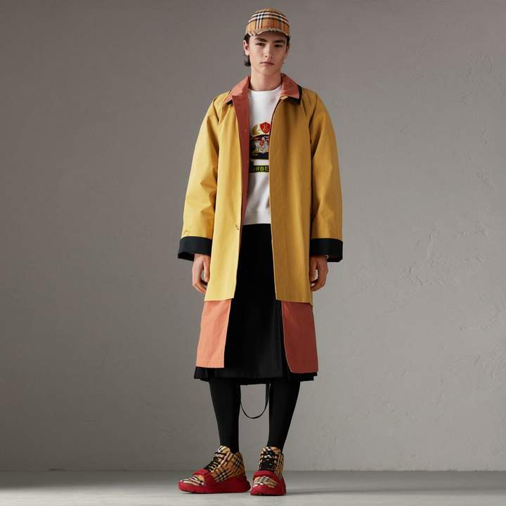 Burberry Reissued Waxed Cotton Gabardine Car Coat, Yellow
