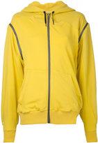 A.F.Vandevorst asymmetric long sleeve hoodie - women - Cotton - S