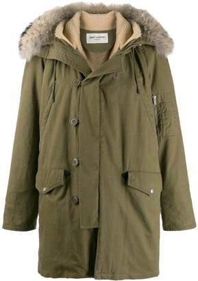 Saint Laurent Fur-Trimmed Hood Parka