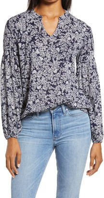 Caslon Split Neck Blouse