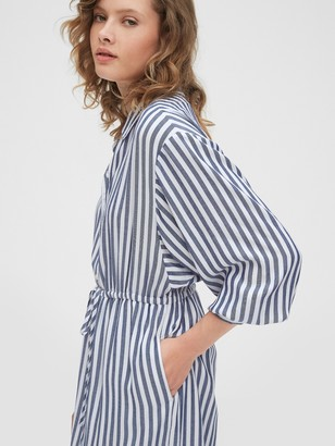 Gap Striped Midi Shirtdress