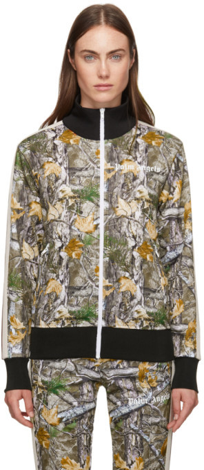 Palm Angels Multicolor Wood Camo Track Jacket