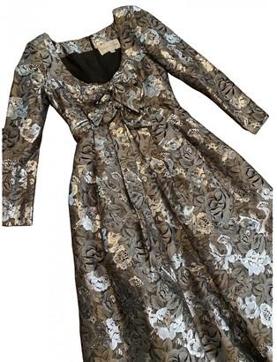 Oscar de la Renta Silver Cotton Dresses
