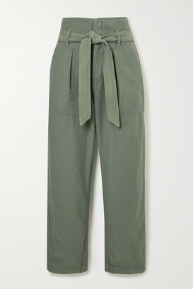 Citizens of Humanity - Noelle Cropped Belted Cotton-twill Cargo Pants - Green
