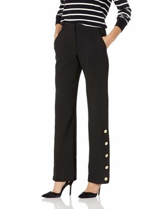 Trina Turk Women's Fete Gold Button Detailed Pant