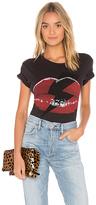 Lauren Moshi Evie Lightning Bolt Lip Crop Tee in Black. - size S (also in )
