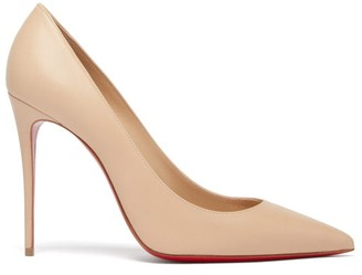 Christian Louboutin Kate 100 Leather Pumps - Light Nude