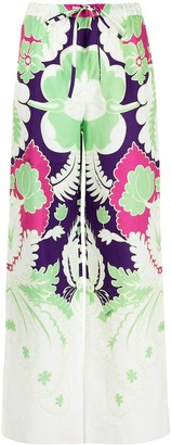 Valentino Printed Wide-Leg Trousers