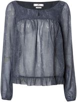 Replay Wide transparent blouse