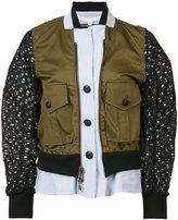 Veronica Beard layered bomber jacket - women - Cotton/Spandex/Elastane - 6