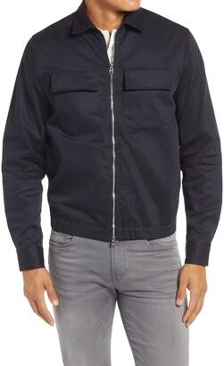 HUGO BOSS Lawson Zip-Up Twill Jacket
