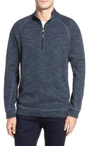 Tommy Bahama Men's Big & Tall Slubtropics Reversible Half Zip Pullover
