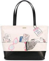 Kate Spade printed tote bag - women - Cotton/Polyester/Polyurethane - One Size