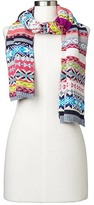 Gap Crazy fair isle merino wool blend scarf