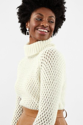 Coast Chunky Roll Neck Sequin Knit Top