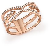 Bloomingdale's Diamond Micro Pavé X Band in 14K Rose Gold, .25 ct. t.w.