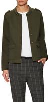 Maison Scotch Military Inspired Sweat Jacket