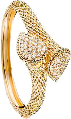 Boucheron Serpent Bohème 18ct yellow-gold and diamond bangle