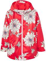 Joules Girls Raindance Floral Rubber Coat