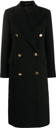 Tagliatore Long-Sleeved Double Breasted Coat