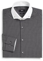 HUGO BOSS Slim-Fit Check Dress Shirt