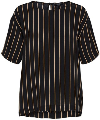 Selected Black & Gold Striped Top - 36 (10) - Black/Gold