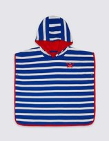 Marks and Spencer Pure Cotton Striped Hooded Towel (0-8 Years)