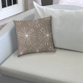 Wrought Studio Rhymes Outdoor Square Pillow Cover & Insert Color: Gray/White
