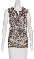 L'Agence Sleeveless Printed Top