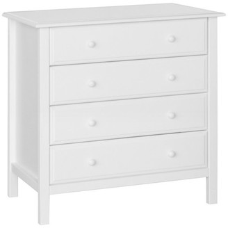 DaVinci Jayden 4-Drawer Dresser , Kd, Espresso Finish, White