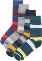 Jack & Jones 4pk Jacorder Stripe Socks