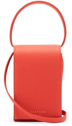 Tsatsas Malva 3 Grained-leather Bag - Red