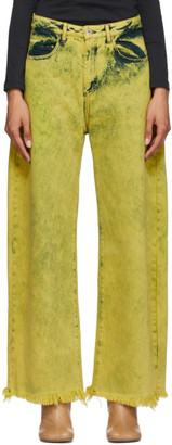 Marques Almeida Yellow Boyfriend Jeans