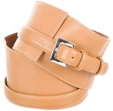 Longchamp Leather Wide Belt