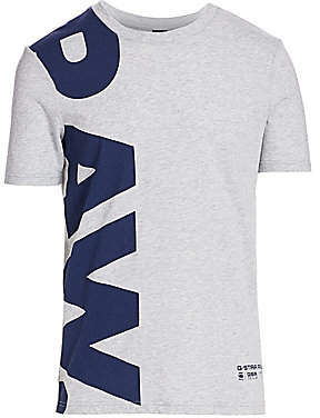 G Star Men's Vertical Logo Tee