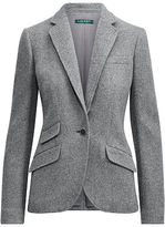Ralph Lauren Single-Button Tweed Blazer