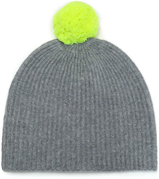 Duffy Pompom-embellished Ribbed Cashmere Beanie