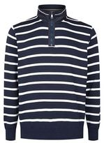 Paul & Shark Admiral Striped Half Zip Jumper