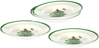 Spode Christmas Tree Set Of 4 Soup Plates 9