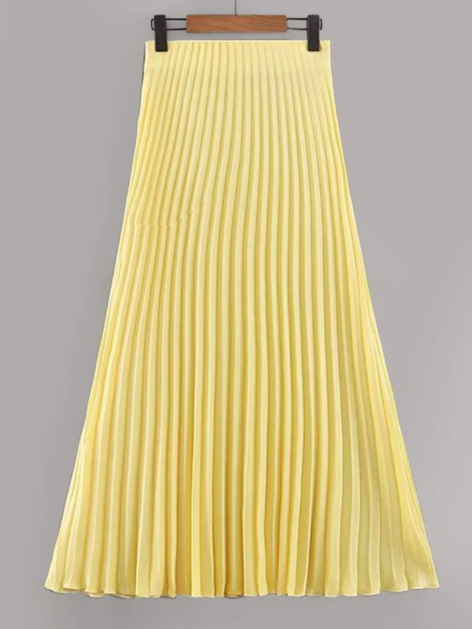 ffcc1ca1e3 High Waist Pleated Skirt - ShopStyle