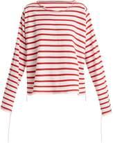 MM6 MAISON MARGIELA Breton-stripe step-hem top