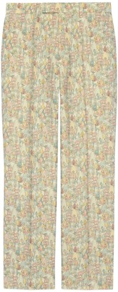 Gucci Liberty floral wool tailored pant