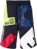 Love Moschino printed Love shorts