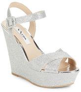Nina Jinjer Metallic Platform Wedge Sandals