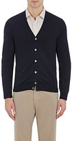 Zanone MEN'S V-NECK CARDIGAN-NAVY SIZE XS