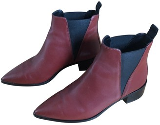 Acne Studios Jensen / Jenny Red Leather Ankle boots